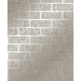Superfresco Milan Brick Taupe & Gold Wallpaper
