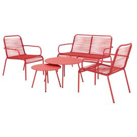 Argos Home Ipanema 4 Seater Sofa Set - Coral