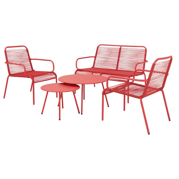 Argos Home Ipanema 4 Seater Sofa Set - Coral