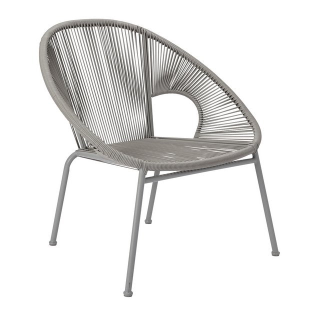 Buy Argos Home Nordic Spring Garden Chair Grey | Garden chairs and sun loungers | Argos