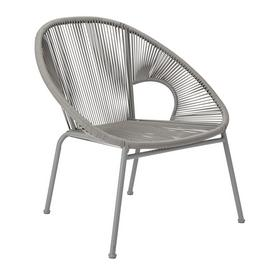 Argos Home Nordic Spring Garden Chair - Grey