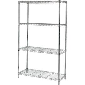 Argos Home Heavy Duty 4 Tier Metal Shelving Unit - Chrome