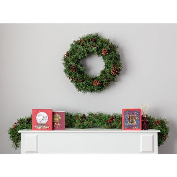 Christmas Wreath.Buy Argos Home Berry And Pine Cone Christmas Wreath Christmas Wreaths And Garlands Argos