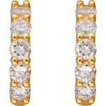 more details on 18ct Gold Plated Silver 2.50ct Look CZ Creole Earrings.