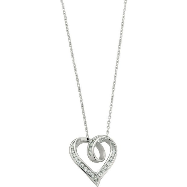 c3f48afb0 ... uk charm bracelet product number 3061760 buy revere sterling silver  cubic zirconia twist heart pendant at discount pandora ...