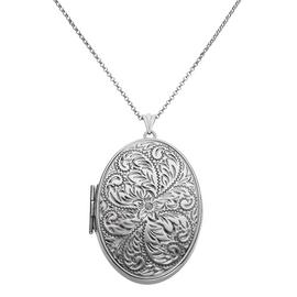 Moon & Back Silver Oval 2 Photo Locket 22 Inch Necklace