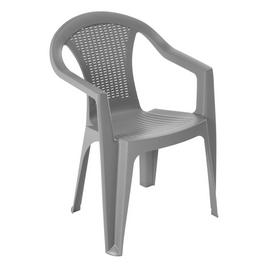 Argos Home Rattan Effect Stacking Chair - Grey