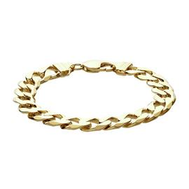 Revere 9ct Gold Plated Sterling Silver Solid Curb Bracelet