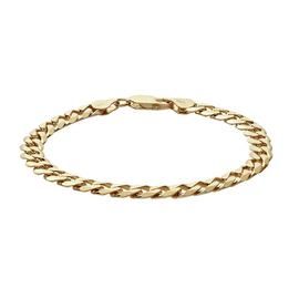Revere 9ct Gold Plated Sterling Silver Curb Bracelet