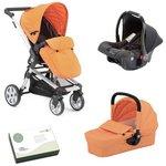 more details on Baby Elegance Beep Twist Travel System - Orange.