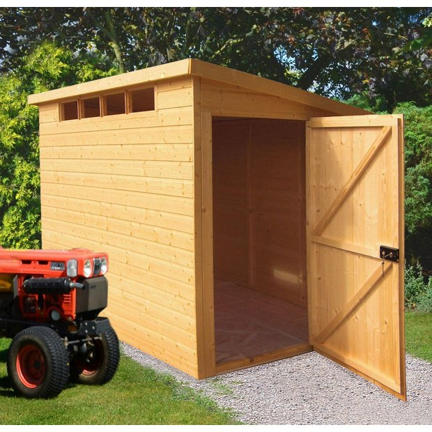 Buy homewood security wooden pent shed 10 x 6ft at argos for Garden shed security