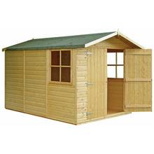 Homewood Guernsey Shiplap Wooden Double Door Shed - 7 x 10ft
