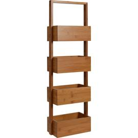 Argos Home Freestanding Bathroom Storage Caddy - Bamboo