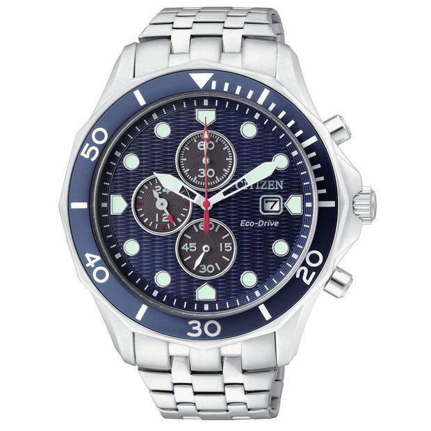 8368e9af7 Citizen Eco-Drive Men's Stainless Steel Chronograph Watch226/2822