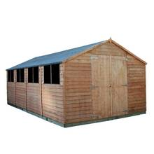 Mercia Overlap Wooden Workshop Shed - 20 x 10ft Best Price, Cheapest Prices
