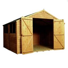 Mercia Wooden 10 x 10ft Overlap Workshop Shed Best Price, Cheapest Prices