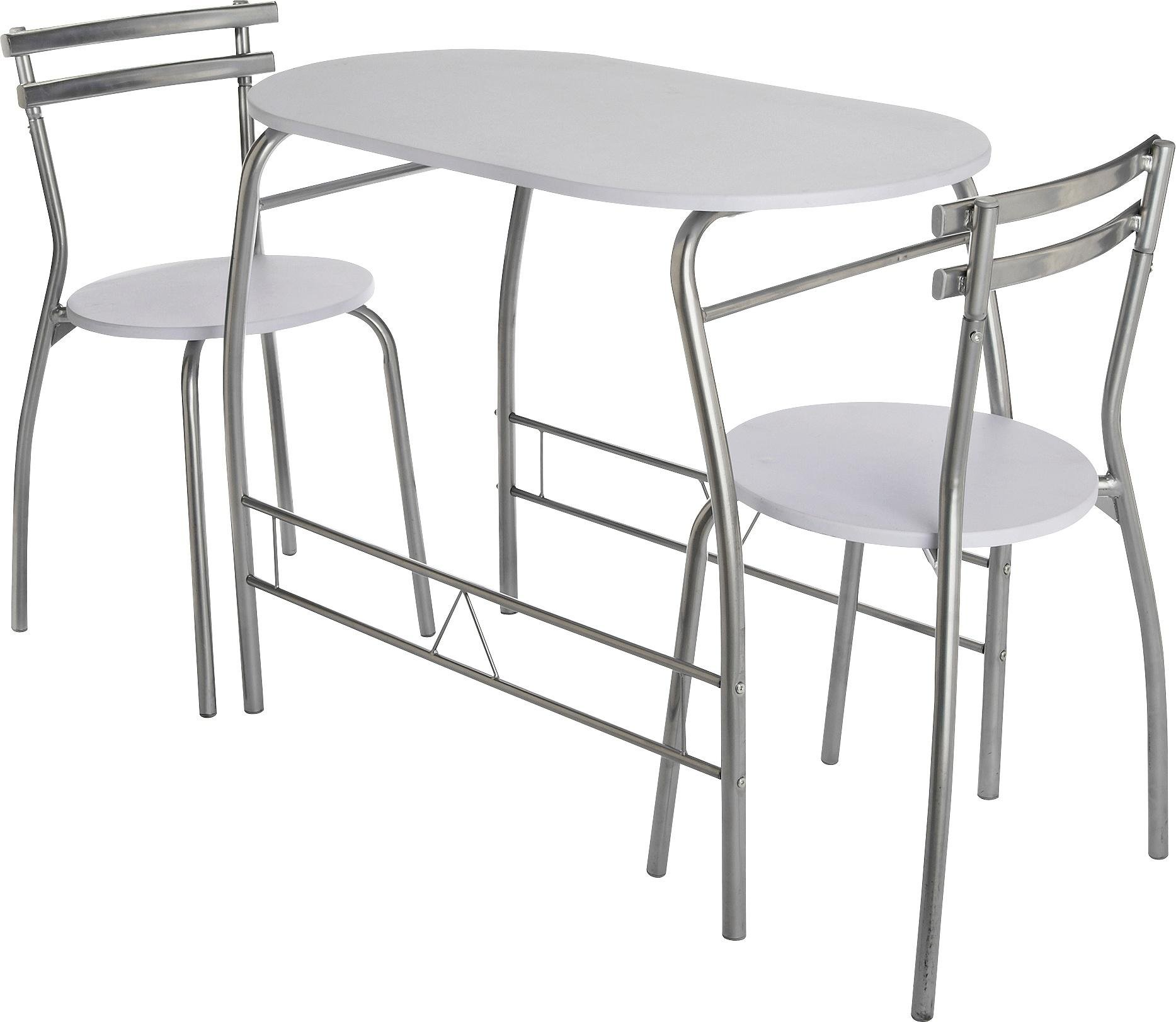 HOME Vegas Dining Table U0026 2 Chairs   White