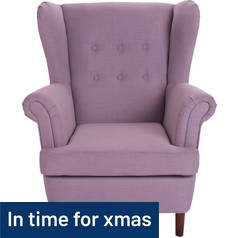 Argos Home Martha Fabric Wingback Chair - Lilac