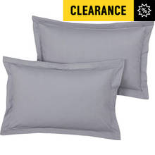 Argos Home Pair of Oxford Pillowcases - Dove Grey