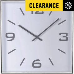 Argos Home Jermyn Square Wall Clock - Silver