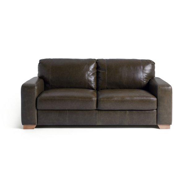 Buy Heart Of House Eton 3 Seater Leather Sofa Chocolate