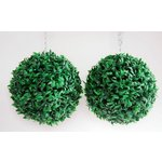 more details on Artificial Art Baby Topiary Grass Balls - Pack of 2.