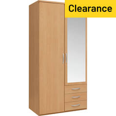 Argos Home Hallingford 2 Door 3 Drawer Mirror Wardrobe
