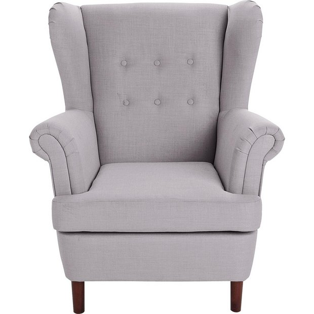 Buy Argos Home Martha Fabric Wingback Chair Light Grey