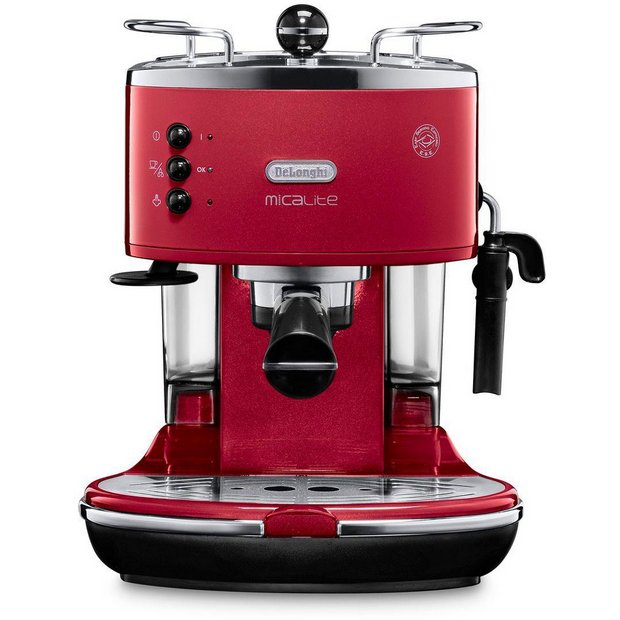 Buy De Longhi Micalite Espresso Coffee Machine - Red at Argos.co.uk - Your Online Shop for ...