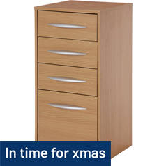 Argos Home 4 Drawer Filing Cabinet - Oak Effect