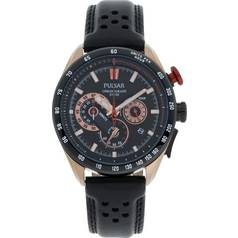 Pulsar Men's Rose Gold WRC Chronograph Strap Watch
