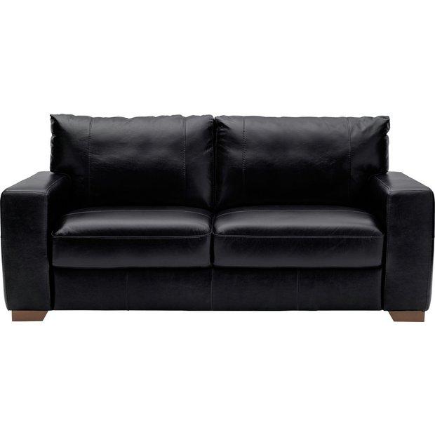 buy heart of house eton 3 seater leather sofa black at. Black Bedroom Furniture Sets. Home Design Ideas