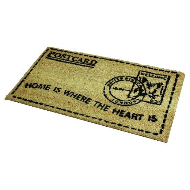 Buy jvl postcard pvc backed coir doormat at for Door mats argos