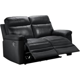 Argos Home Paolo 2 Seater Manual Recliner Sofa - Black