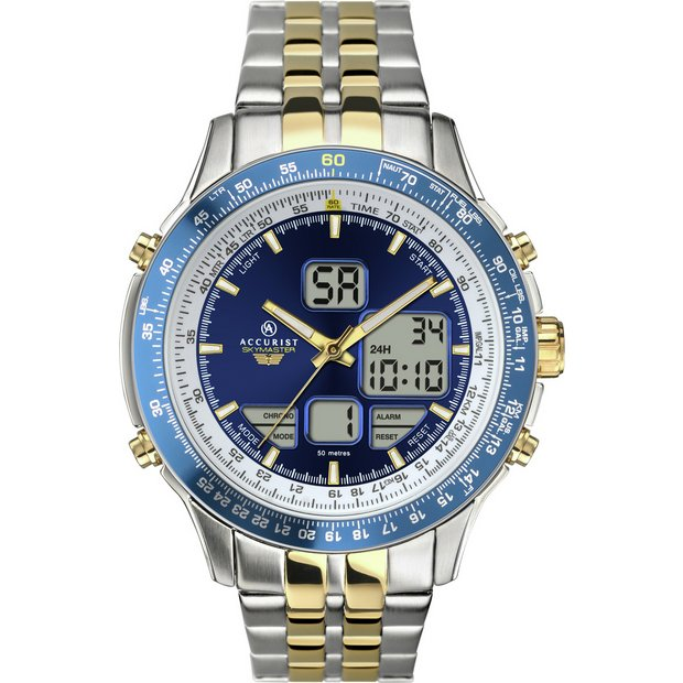 buy accurist men s two tone chronograph watch at argos co uk buy accurist men s two tone chronograph watch at argos co uk your online shop for men s watches watches jewellery and watches