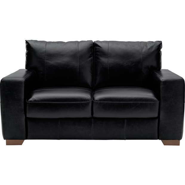 Buy Heart Of House Eton 2 Seater Leather Sofa Black At