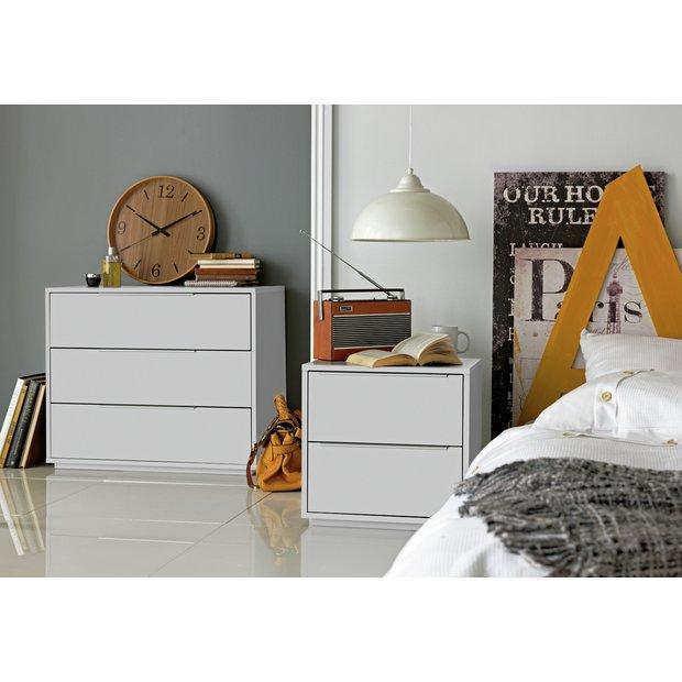 buy hygena bergen 3 drawer chest white at. Black Bedroom Furniture Sets. Home Design Ideas