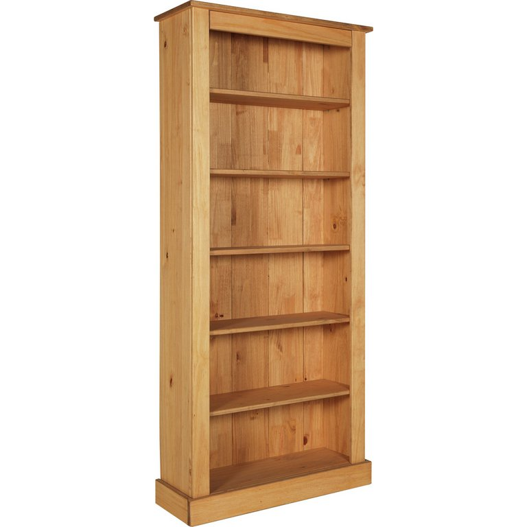 buy collection 5 shelf wide solid pine