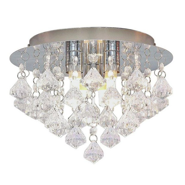 Switched Chandelier Wall Lights : Buy HOME Eve 3 Light Ceiling Fitting - Clear at Argos.co.uk - Your Online Shop for Ceiling and ...