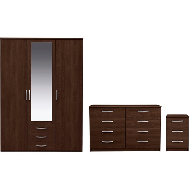 Buy Collection New Hallingford 3pc 3dr Wardrobe Package Wenge At Your Online