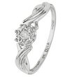 more details on 9ct White Gold Diamond Accent Solitaire Fancy Twist Ring.