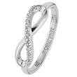 more details on Sterling Silver Diamond Accent Infinity 'Forever' Ring.