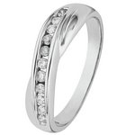 more details on 9ct White Gold 0.25ct Diamond Crossover Eternity Ring.