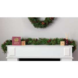 Argos Home 152.4cm Berry and Pine Cone Christmas Garland