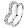 more details on Sterling Silver Cubic Zirconia Wishbone Ring ‑ Set of 2.