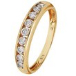 more details on 9ct Gold Cubic Zirconia 9 Stone Channel Set Eternity Ring. .