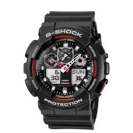 bdc7cff376db Casio G-Shock Men s Black Resin Strap World Time Watch
