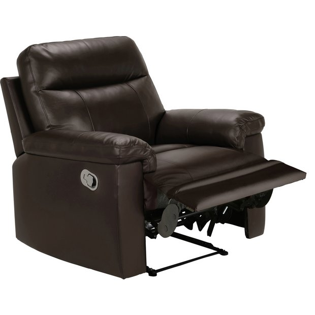Buy Collection New Paolo Manual Recliner Chair Choc At