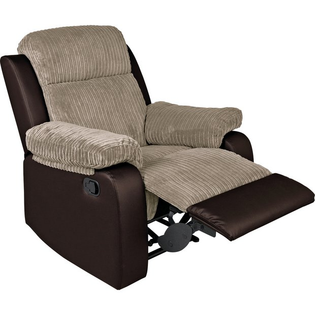 Buy Argos Home Bradley Fabric Manual Recliner Chair Natural | Armchairs and chairs | Argos