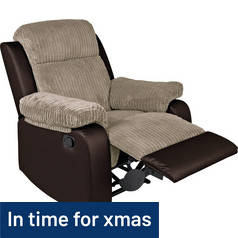 Argos Home Bradley Fabric Manual Recliner Chair - Natural
